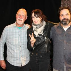 John Platt, Pieta Brown and J.T. Bates in Studio A (photo by Jeremy Rainer/WFUV)