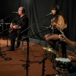 Pixies in Studio A (photo by Gus Philippas/WFUV)