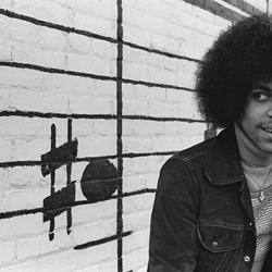 Prince in 1977, Minneapolis, Minnesota, taken at the Schmitt Music building (photo by Robert Whitman, by permission of the photographer)