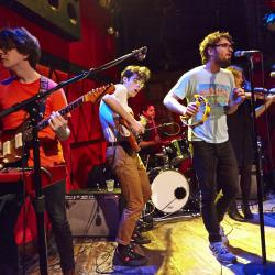 Ra Ra Riot at Rockwood Music Hall (photo by Gus Philippas/WFUV)