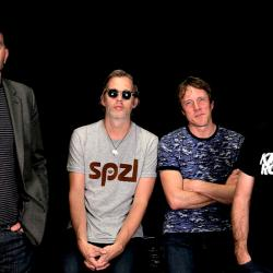 Ride's Mark Gardener, Andy Bell, Loz Colbert and Steve Queralt at FUV (photo by Sabrina Sitton)