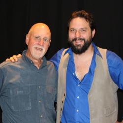 "Robert Sarazin Blake and ""Sunday Supper"" host John Platt (photo by Jeremy Rainer)"