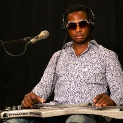 Robert Randolph in Studio A (photo by Kay Kurkierewicz/WFUV)