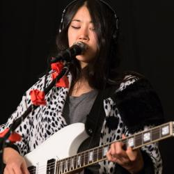 SASAMI in Studio A (photo by Brian Gallagher/WFUV)