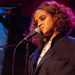 Seinabo Sey at Rockwood Music Hall (photo by Gus Philippas/WFUV)
