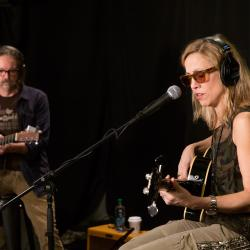 Sheryl Crow and Jeff Trott at WFUV (photo by Kristen Riffert)
