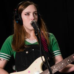 Soccer Mommy in Studio A (photo by Mary Munshower/WFUV)