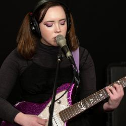Soccer Mommy in Studio A (photo by Michael L'Abbate/WFUV)