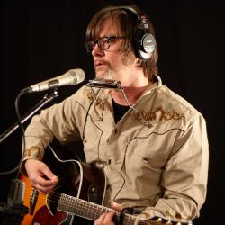 Jay Farrar of Son Volt in Studio A (photo by Gus Philippas/WFUV)