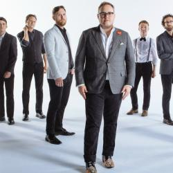 Paul Janeway (front) and his bandmates of St. Paul and the Broken Bones (photo by David McClister, PR)