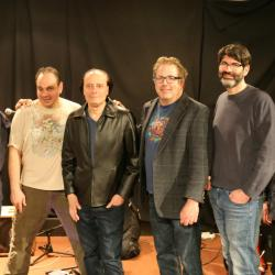 Stella Blue's Band with Paul Cavalconte in Studio A (photo by Jeremy Rainer/WFUV)