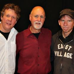 "Steve Forbert, ""Sunday Supper"" host John Platt, and Pete Kennedy (photo by Jeremy Rainer)"