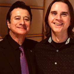 Steve Perry with Russ Borris (photo courtesy of Russ)