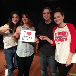 The Staves with WFUV's Russ Borris