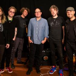 The Hold Steady in Studio A (photo by Steven Ruggiero/WFUV)