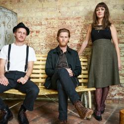 The Lumineers, left to right: Jeremiah Fraites, Wesley Schultz and Neyla Pekarek (photo by Big Hassle, PR)