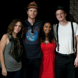 The Lumineers with Alisa Ali (photo by Andrew Arne/WFUV)
