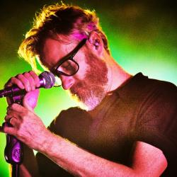 Matt Berninger of The National at Forest Hills Stadium (photo by Gus Philippas/WFUV)