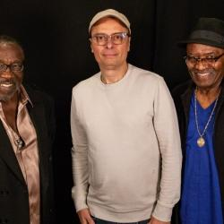 Eddie Levert and Walter Williams of The O'Jays with Paul Cavalconte (photo courtesy of WFUV)