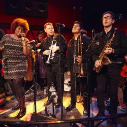 FUV Live at CMJ with The Suffers (photo by Gus Philippas/WFUV)