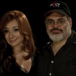 Tori Amos with Darren DeVivo (photo by Tim Teeling/WFUV)