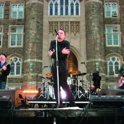 U2 outside Keating Hall in 2009 (photo courtesy of Fordham University)