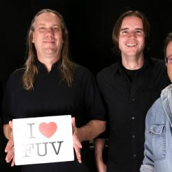 Violent Femmes with Russ Borris in Studio A (photo by Nick D'Agostino/WFUV)