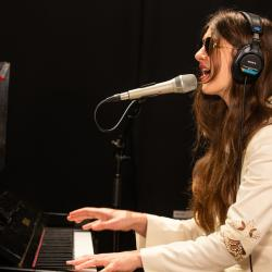 Weyes Blood in Studio A (photo by Kay Kurkierewicz/WFUV)