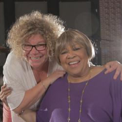 Rita Houston and Mavis Staples (photo by Eric Grossman)