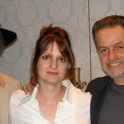 Neil Young and Jonathan Demme with Claudia Marshall