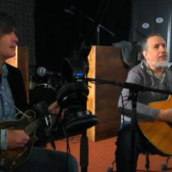 David Bromberg and Larry Campbell in Studio A