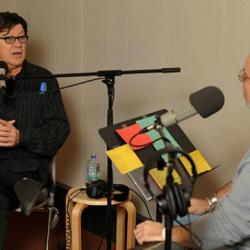 Robbie Robertson and Darren DeVivo in Studio A