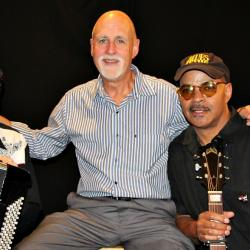 Guy Davis with Professor Louie and host John Platt (photo by Jeremy Rainer)