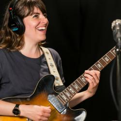 Hop Along's Frances Quinlan in Studio A (photo by Olivia Brewer/WFUV)