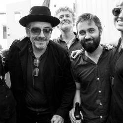 Elvis Costello with Larkin Poe, Glen Hansard and Conor O'Brien at Newport Folk Festival