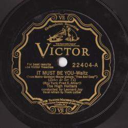 Frank Luther & The High Hatters in 1930