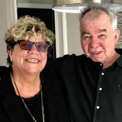 Rita Houston with John Prine (photo by Fiona Whelan)