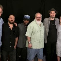 Eric Krasno and band with host Darren DeVivo at WFUV