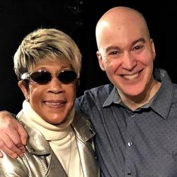 Bettye LaVette with Eric Holland at WFUV in 2018 (photo by Kevin Kiley)