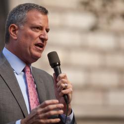 New York City Mayor Bill de Blasio Unveils His First Budget Proposal