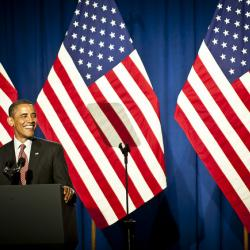 President Obama in NYC for Dual Fundraisers