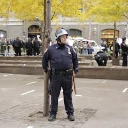 NYC Lawmakers Challenge NYPD at Zuccotti Park