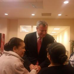 First Mayor Poll Out for de Blasio