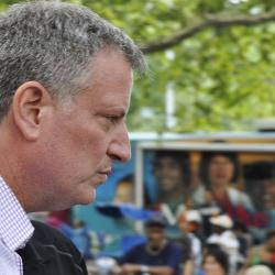 De Blasio Heads to Albany for Pleas and Protest