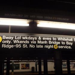 R Train To Resume Service Between Brooklyn And Manhattan Monday