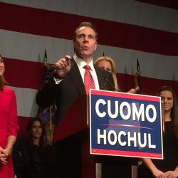 Cuomo Re-elected to a Second Term