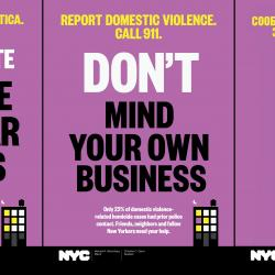 New York City Leaders Urge City Residents to Report Domestic Abuse
