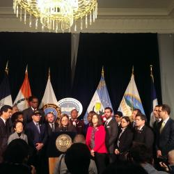 NYC Council Speaker Voices Support for NYPD