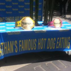 Contestants Get Set for Annual Nathan's Hot Dog Contest