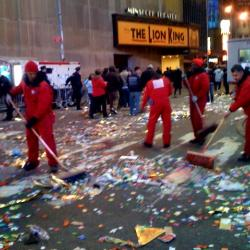 After Party: Workers Prep NYC New Year's Cleanup